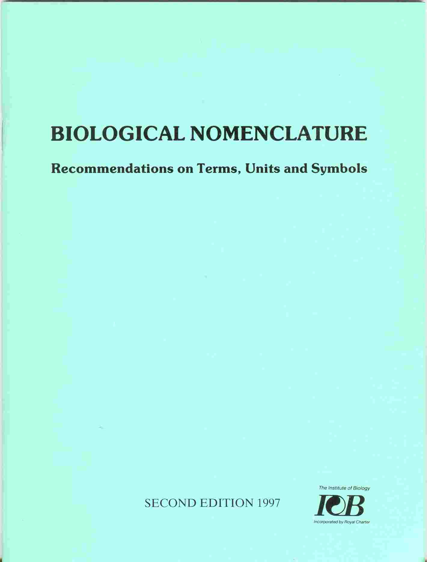 Biological nomenclature