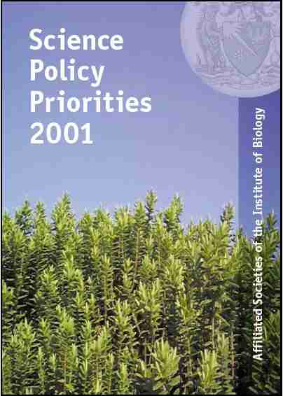 Biology science policy priorities